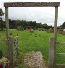 Yoxall forest school entrance
