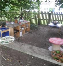 Our mud kitchen at Yoxall