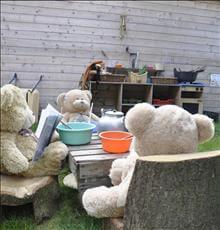 Teddy bears lunch
